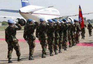 Cambodian soldiers for United Nations