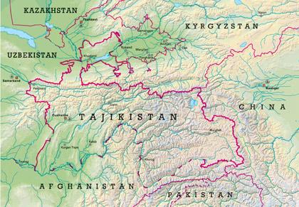 tajistan map
