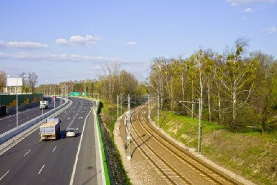 motorway-and-railroad-urban-infrastructure-scenery-in-warsaw-poland