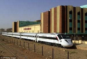 The Nile Train passes Khartoum Susan