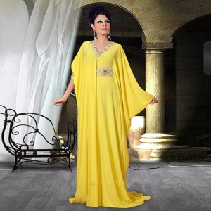 Dubai-Kaftan-Long-Sleeve-Muslim-Yellow-Evening-Dresses-2016-A