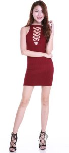 2way_Criss_Cross_Dress_Maroon_1